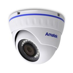 AC-IDV202M AMATEK Видеокамера IP, купол 2Мп,ИК,ванд,микрофон