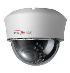 PD1-IP2-B2.1 v.9.4.1 PolyVision Видеокамера IP, купол 2Мп, H265, пластик