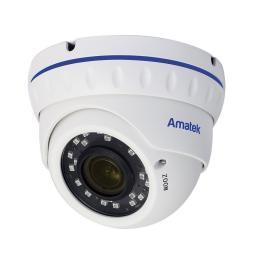 AC-IDV503VA(2.8-12)(PoE) AMATEK Видеокамера IP, купол 5Мп,ИК,ван,варио,ауд