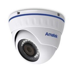 AC-IDV202AS (2.8) v.2(PoE) AMATEK Видеокамера IP, купол 2Мп,ИК,ванд, аудио