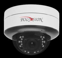 PDL-IP2-B1.4MPA v.5.8.9 PolyVision Видеокамера IP, купол Uni, 2Мп,а/ванд,PoE